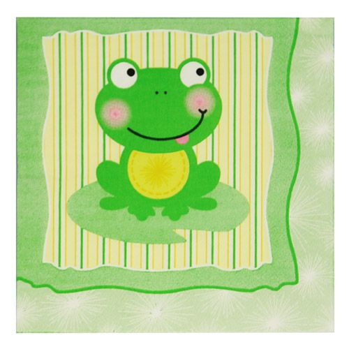 froggy frog  baby shower luncheon napkins   pack  baby shower, Baby shower invitation