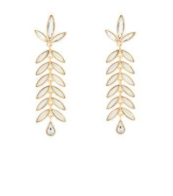 - Crystal detail- Leaf drop design- Stud fastening