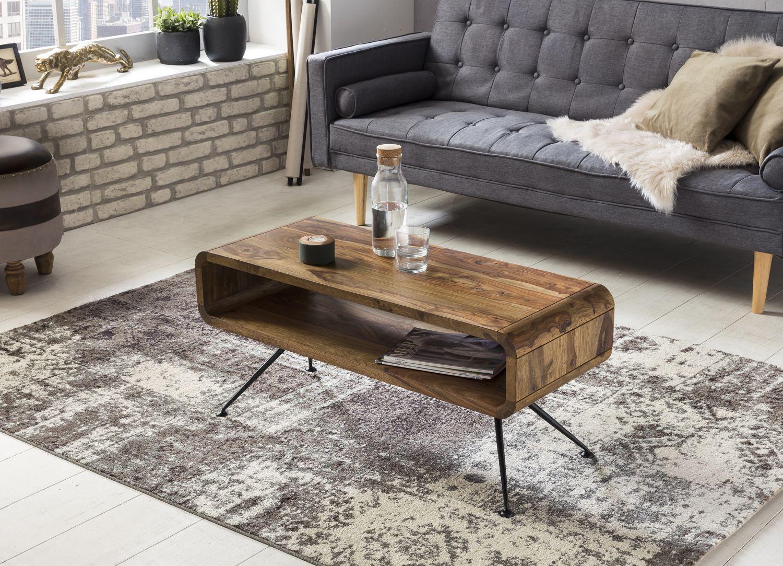 Wohnling Couchtisch Kiran Wl5 299 Aus Sheesham Massivholz Und Metall Coffee Table Wohnzimmertisch Couchtisch Couchtisch Massivholz