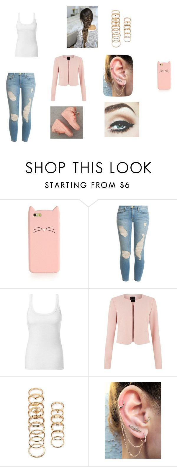 """""""Pink"""" by dreamofjess ❤ liked on Polyvore featuring Kate Spade, Frame Denim, NIKE, Intimissimi and Forever 21"""