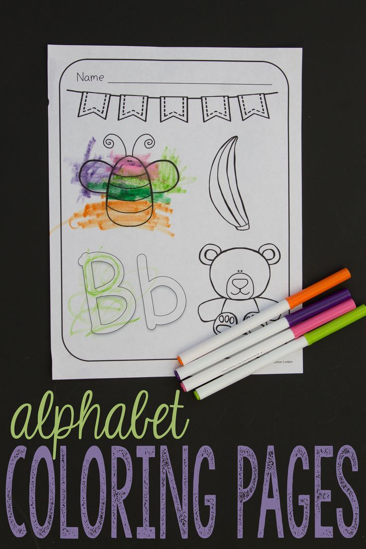 Alphabet Coloring Pages - A to Z Pages with Large Letters and ...