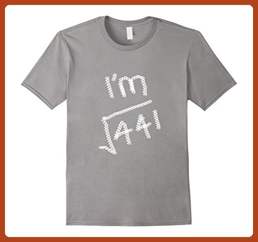 4eeeac79 Mens 21 Years Old Math T Shirt- Square Root of 441 XL Slate - Math science  and geek shirts (*Partner-Link)