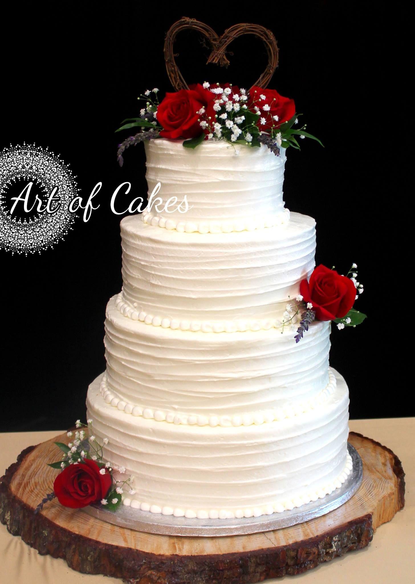 Romantic wedding cake Rustic wedding cake 4 tier wedding