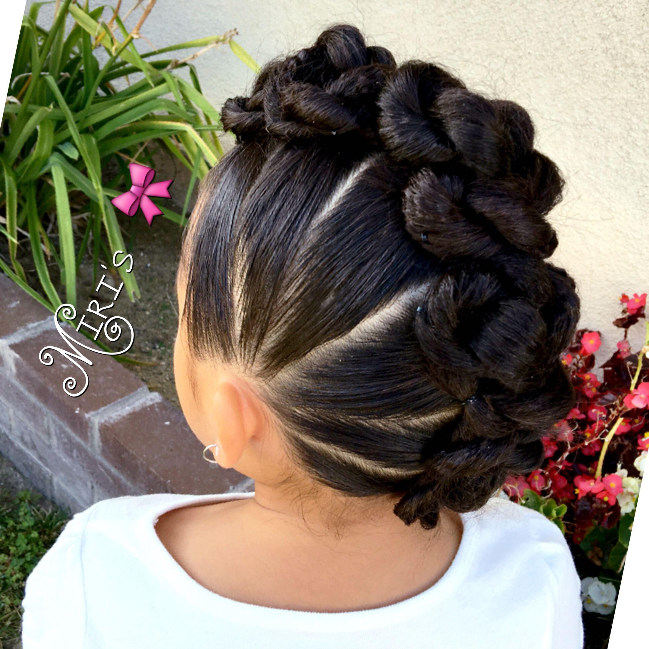 mohawk hair style for little girls | my girls stay cute