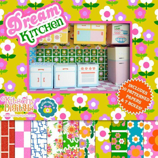 Dream Kitchen Paper Toy Printable