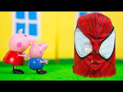 Peppa Pig Deu ao George SURPRESA GIGANTE DO HOMEM ARANHA Galinha Pintadinha Massinha  Play Doh -