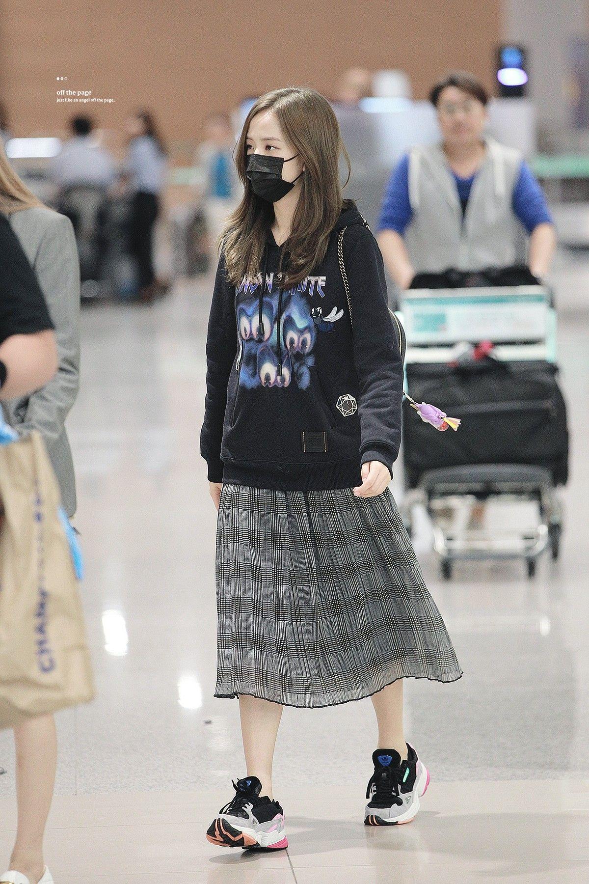 180913 Blackpink At Icn Airport Gaya Model Pakaian Korea Gaya Model Pakaian Gaya Ulzzang