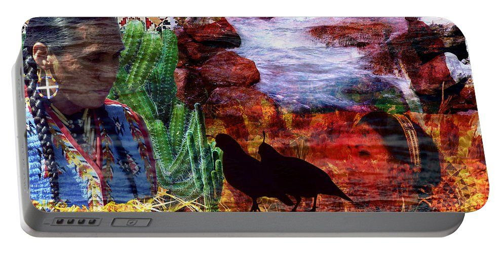 Portable Battery Charger featuring the photograph Southwest by Judi Saunders.