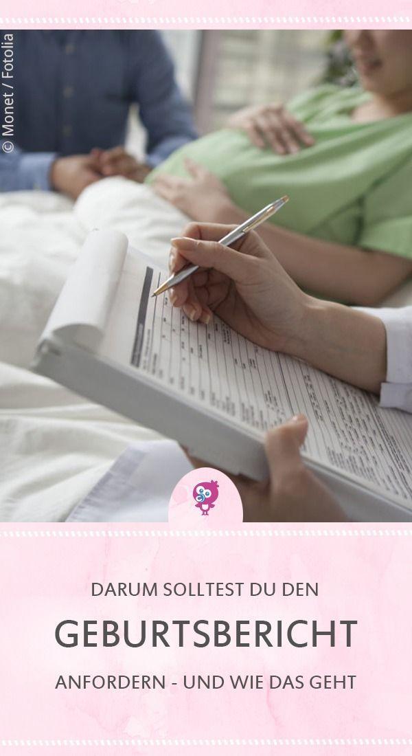 Geburtsbericht Anfordern