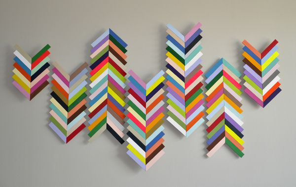 Chevron Wall Hanging...made from balsa wood. Maybe for the living ...