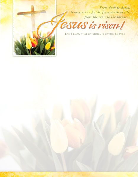 Free Easter Letterhead Template  Church Bulletins  Easter Season