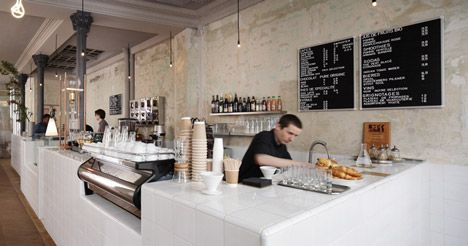 caf coutume by cut architectures - White Cafe Design
