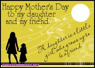 Happy Mothers Day To My Daughter Quote Poems Wishes Images For