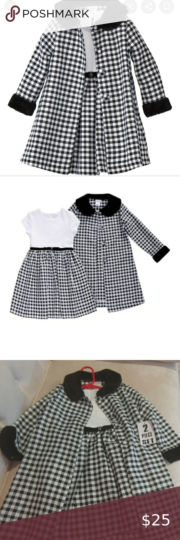 NWT Youngland Dress with coat This is Brand new dress with a very cute top coat. Perfect together or separate! Youngland Dresses Formal