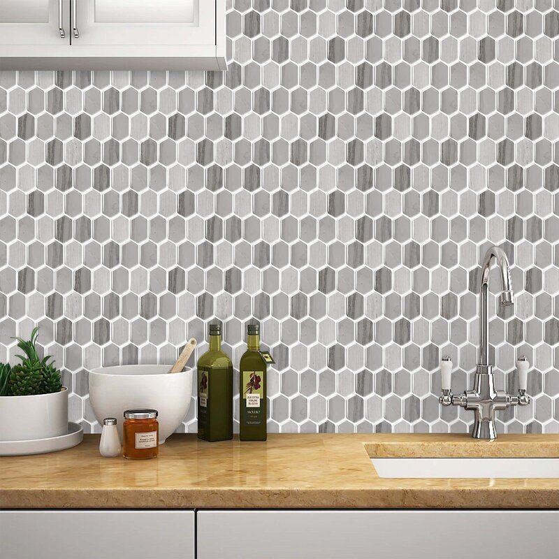 10 X 10 Pvc Peel Stick Mosaic Tile In Mocha Peel Stick Backsplash Mosaic Tiles Tile Backsplash