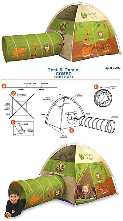 Play Tents 145997 Pacific Play Tents Kids Safari Fun Dome Tent And Crawl Tunnel Combo  sc 1 st  Pinterest & Play Tents 145997: Pacific Play Tents Kids Safari Fun Dome Tent ...
