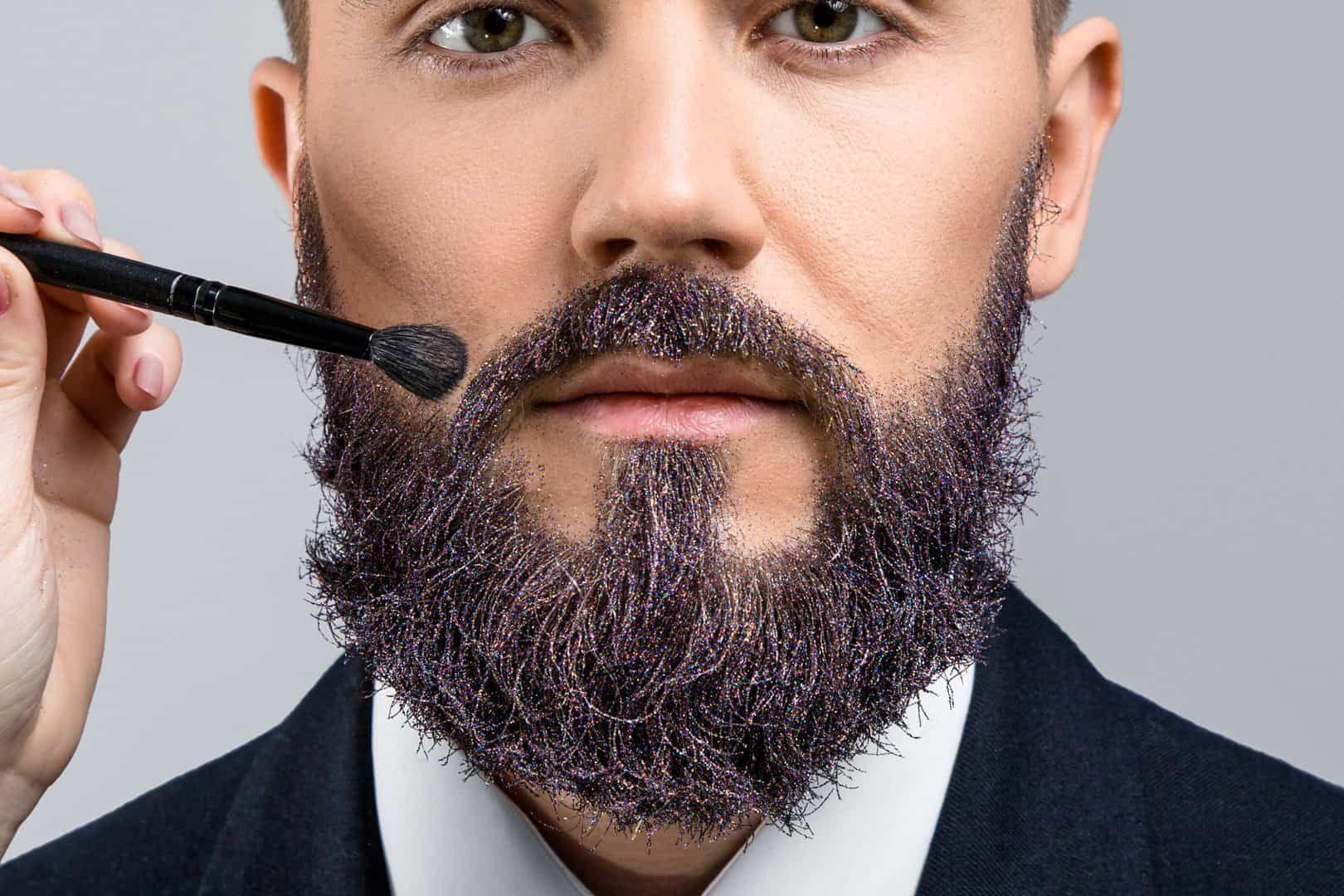 Bart färben graue haare