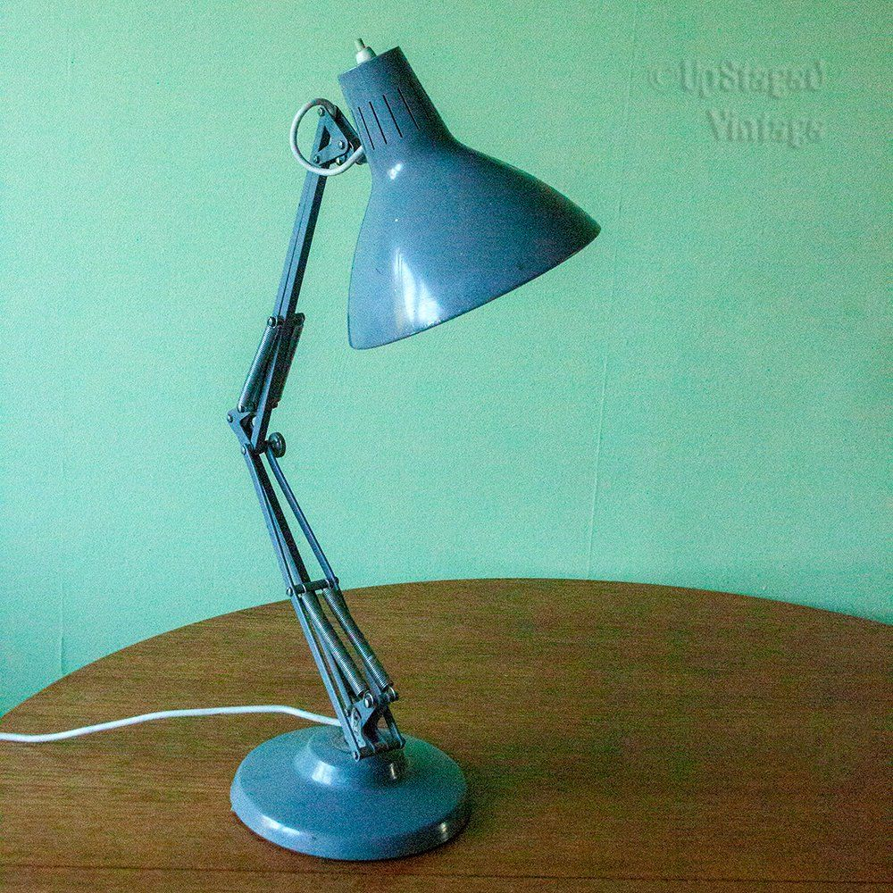 Vintage 1950s 60s Jacob Jacobsen Luxo Grey Enamel Architects Lamp 1001 Norway By Upstagedvintage On Etsy Architect Lamp Retro Lighting Lamp
