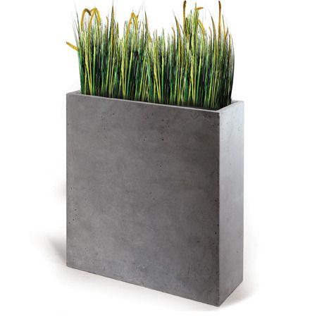 Bac A Fleur Ciment bac à fleurs fibre de terre clayfibre l60 h72 cm gris