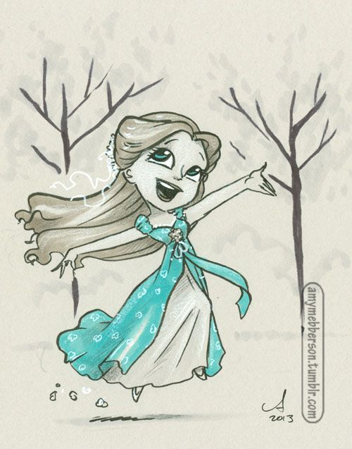 That's how you know…. D23 Sketch amymebberson.tumblr.com #pocketprincesses