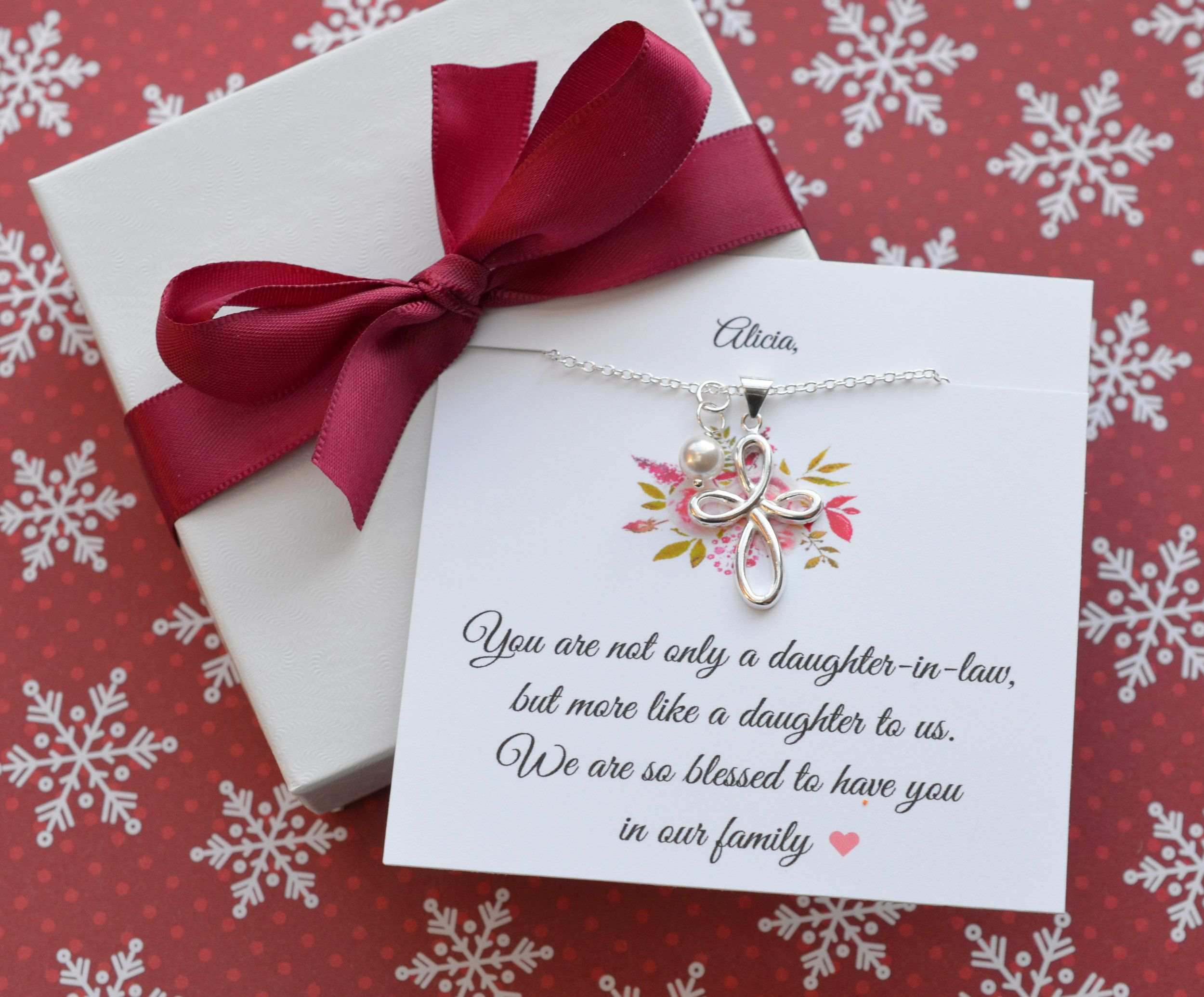 Daughter in law gift bonus daughter necklace christmas