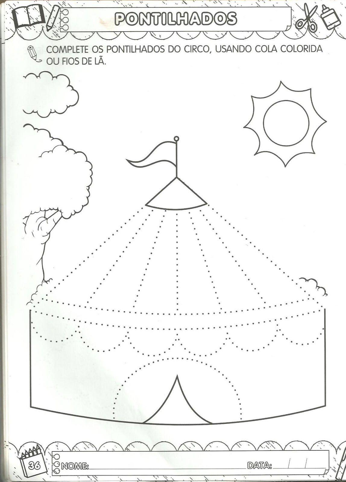 Arte De Educar Pontilhados Para Maternal Com Imagens Tarefas