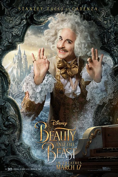 Stanley Tucci As Cadenza Poster By Disney Beautyandthebeast