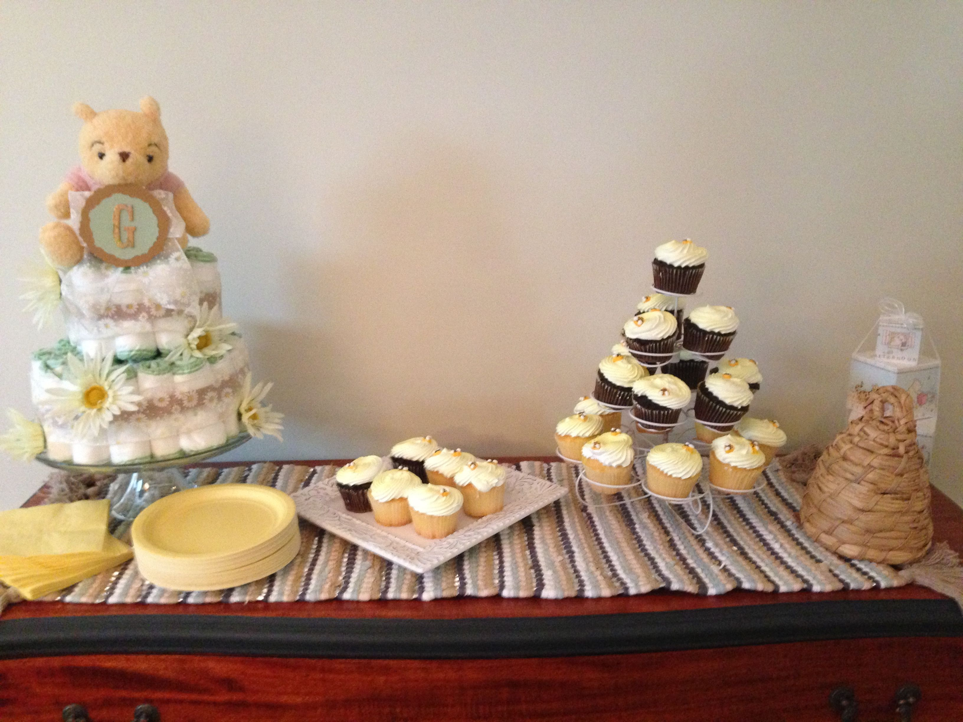 classic pooh baby shower party planning pinterest