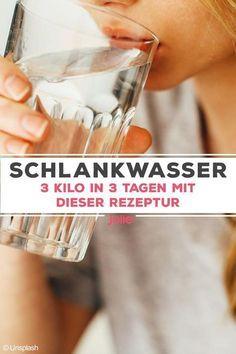 Photo of Schlankwasser: 3 Kilo in 3 Tagen abnehmen. So funktioniert's!