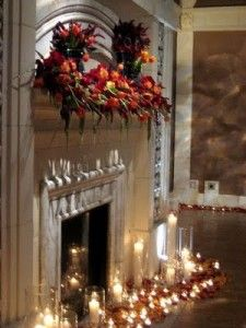 Candle Arrangement Across Mantle Instead Of On The Floor Fianceer Pinterest Wedding Venues Mantles And Fireplace Candles