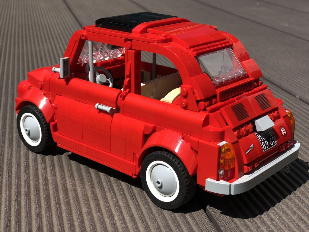 Fiat 500 F In Real Bricks Lego Cars Lego Wheels Lego Truck