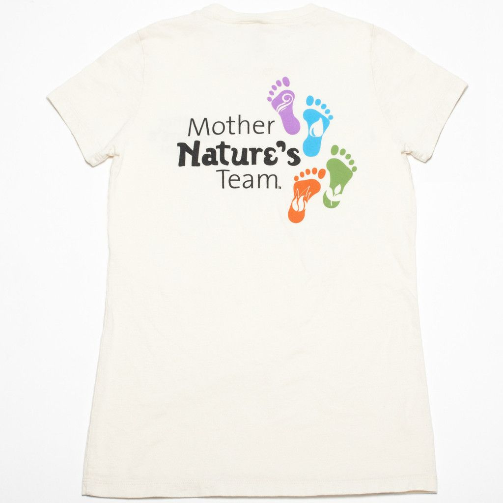 Original Mother Nature's Team---100% combed and ring spun organic cotton 4.2 oz Side seamed Slightly fitted Runs small--order one size larger than normal