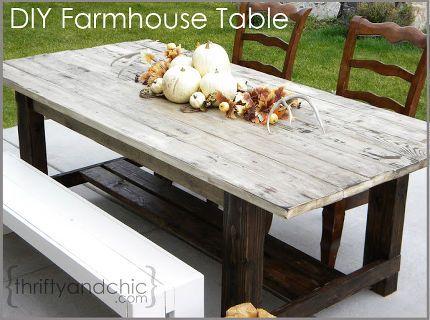 outdoor farmhouse table, outdoor furniture, outdoor living, painted furniture, DIY Farmhouse Table