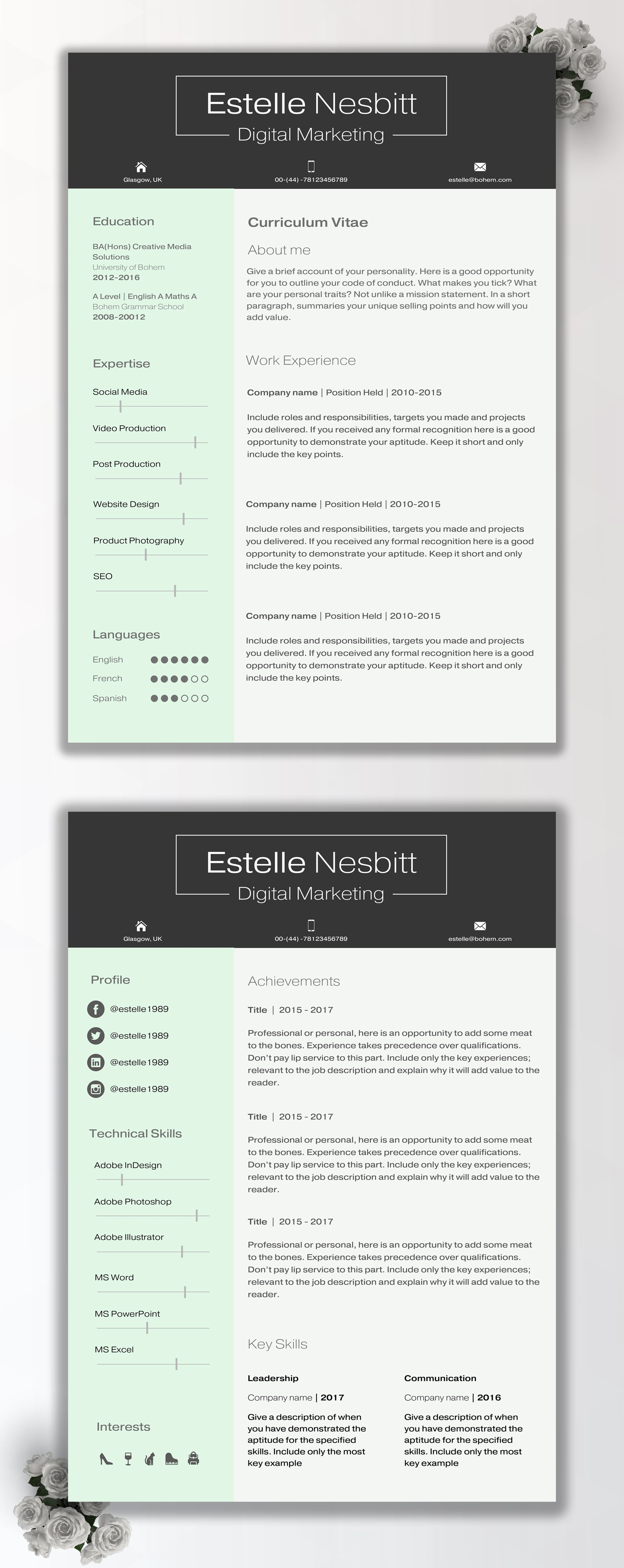 Cv Design Template For Inspiration  Cv Writing Tips  How To
