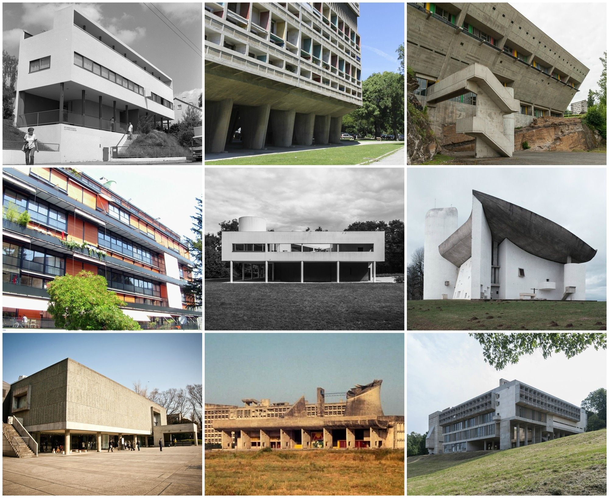 Modern architecture: a selection of sites