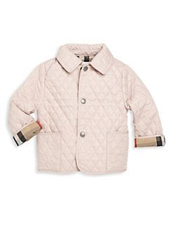 Burberry - Baby's Check-Detail Diamond-Quilted Jacket | Children's ... : burberry kids quilted jacket - Adamdwight.com