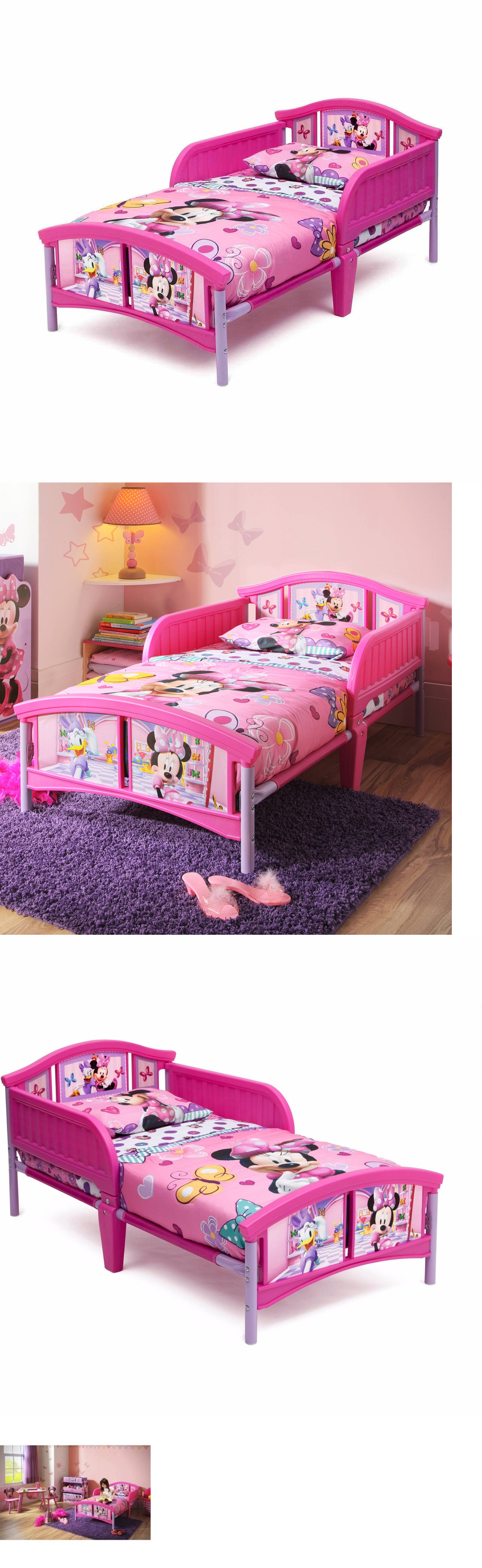Kids Furniture: Disney Minnie Mouse Plastic Toddler Bed Delta Girls Kids  Furniture *No Tax