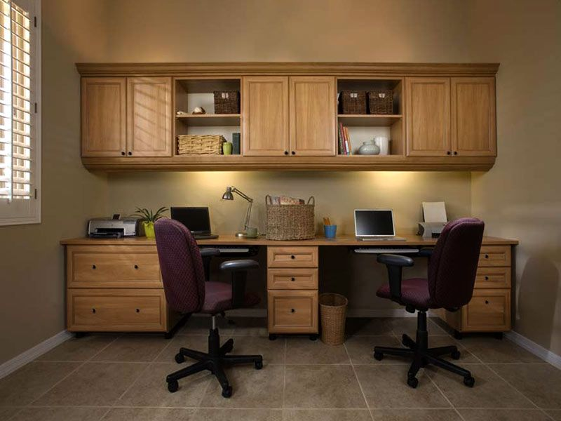 Merveilleux Secret Office In Premier Crown Moulding Double Workstation