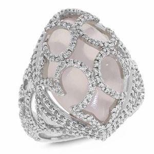 Gemma 1.20ct Diamond & 11.10ct Rose Quartz 18k White Gold Ring Metal Weight: 13.3 gram  Item #: AZSC27114826CRSH Regular price:$2,927.99 Sale price:$1,729.99 You Save: 41%