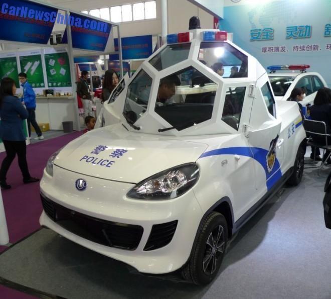Futuristic Electric Patrol Car Offers Officers A 360