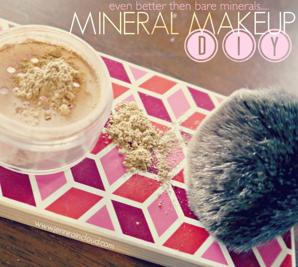 DIY Mineral Makeup Bare minerals makeup, Mineral makeup