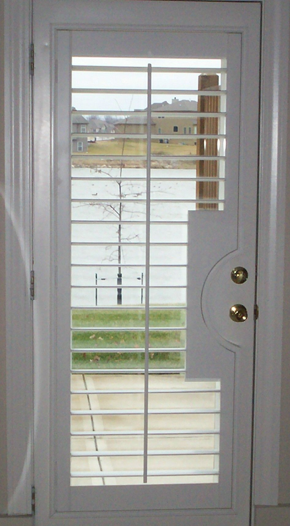 Hunter Douglas Heritance Wood Shutter With French Door