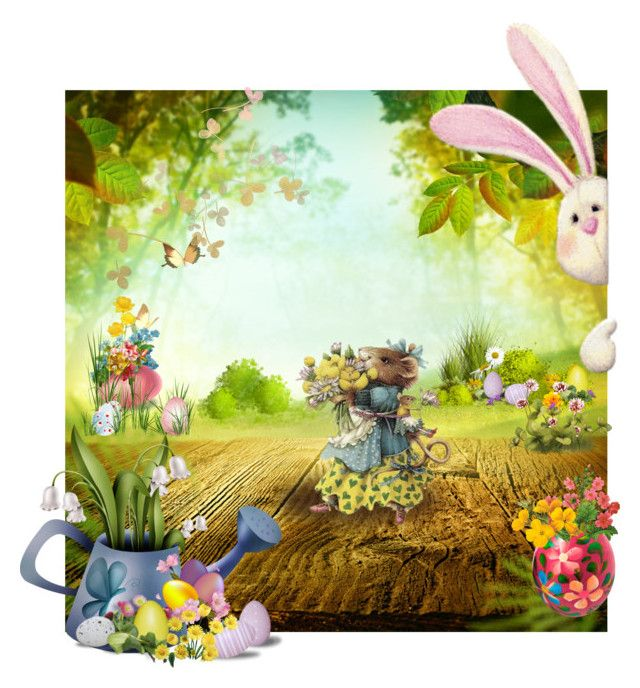 """""""Easter in Rodentia"""" by fm3happy ❤ liked on Polyvore featuring art"""