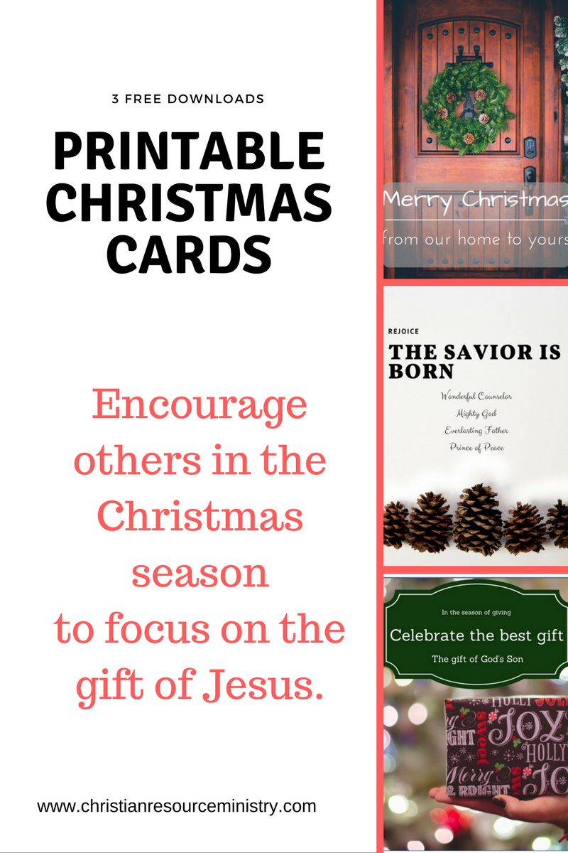 3 Printable Christmas Cards With Christian Message Httpswww
