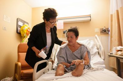Concerns Rise Over IV Use After Woman Loses Limbs:  Jungeun Park visited her friend Myung Hwa Jang, who lost most of her hands and both feet, in New York Hospital Queens. The use of IV solutions to combat mild illnesses is common among some Asian immigrants in New York City, but the fate of one woman has sent a scare through the communities.