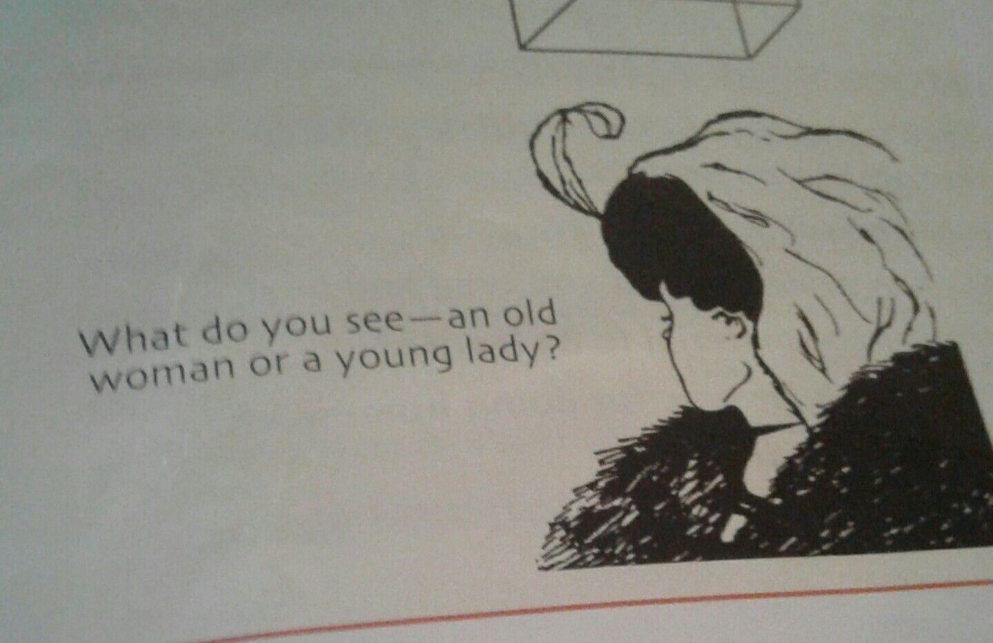 Do you see an old woman or a girl 40
