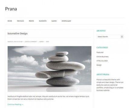 Prana Free Simple WordPress Theme   Blogging and work   Pinterest ...