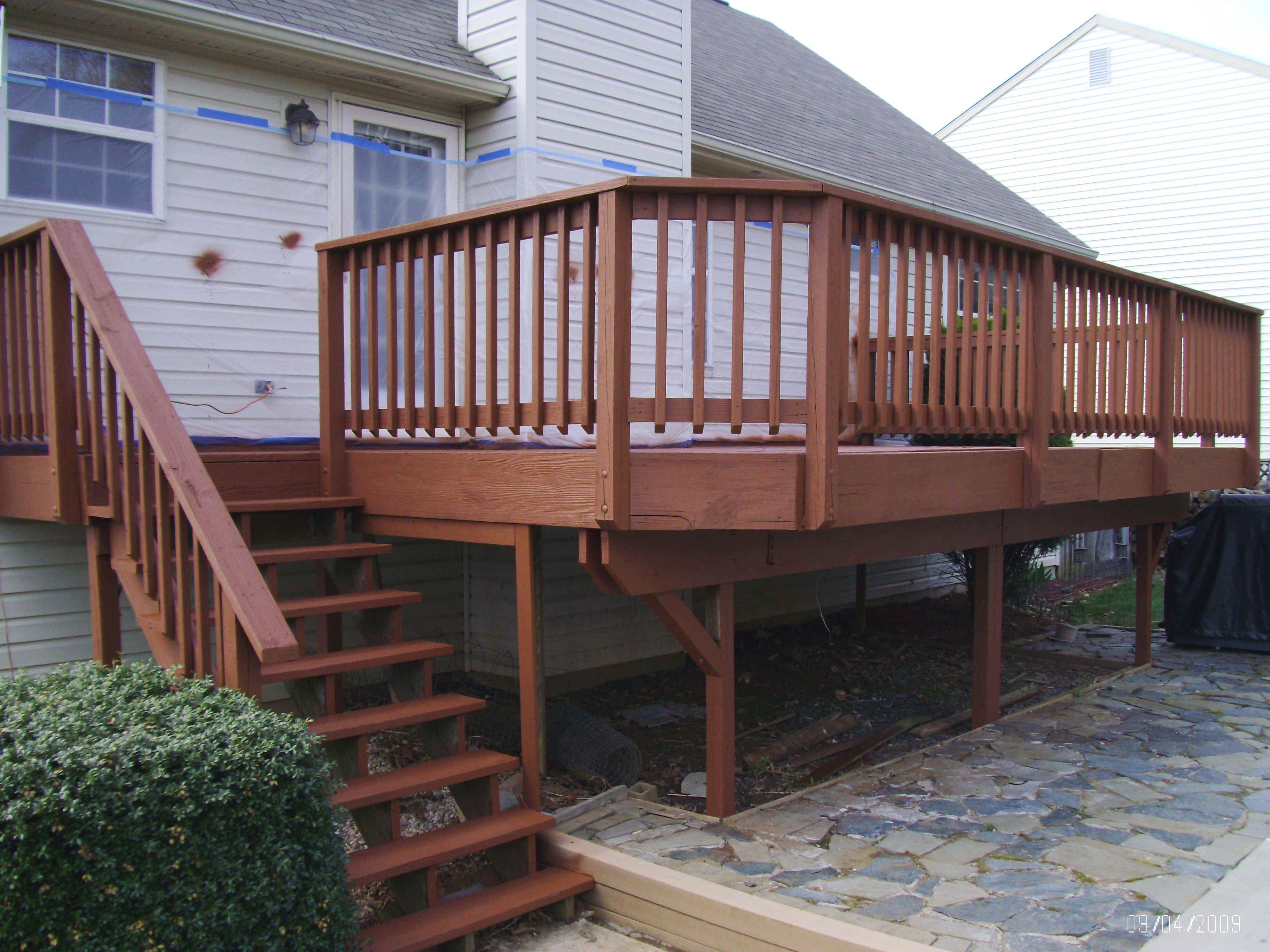 Behr terra cotta solid color stains on decks fences for Garden decking varnish