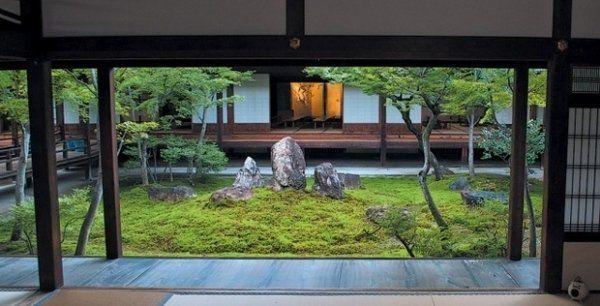 Home Garden Ideas Japanese Style Patio Moss Trees Rocks Patio Design Ideas