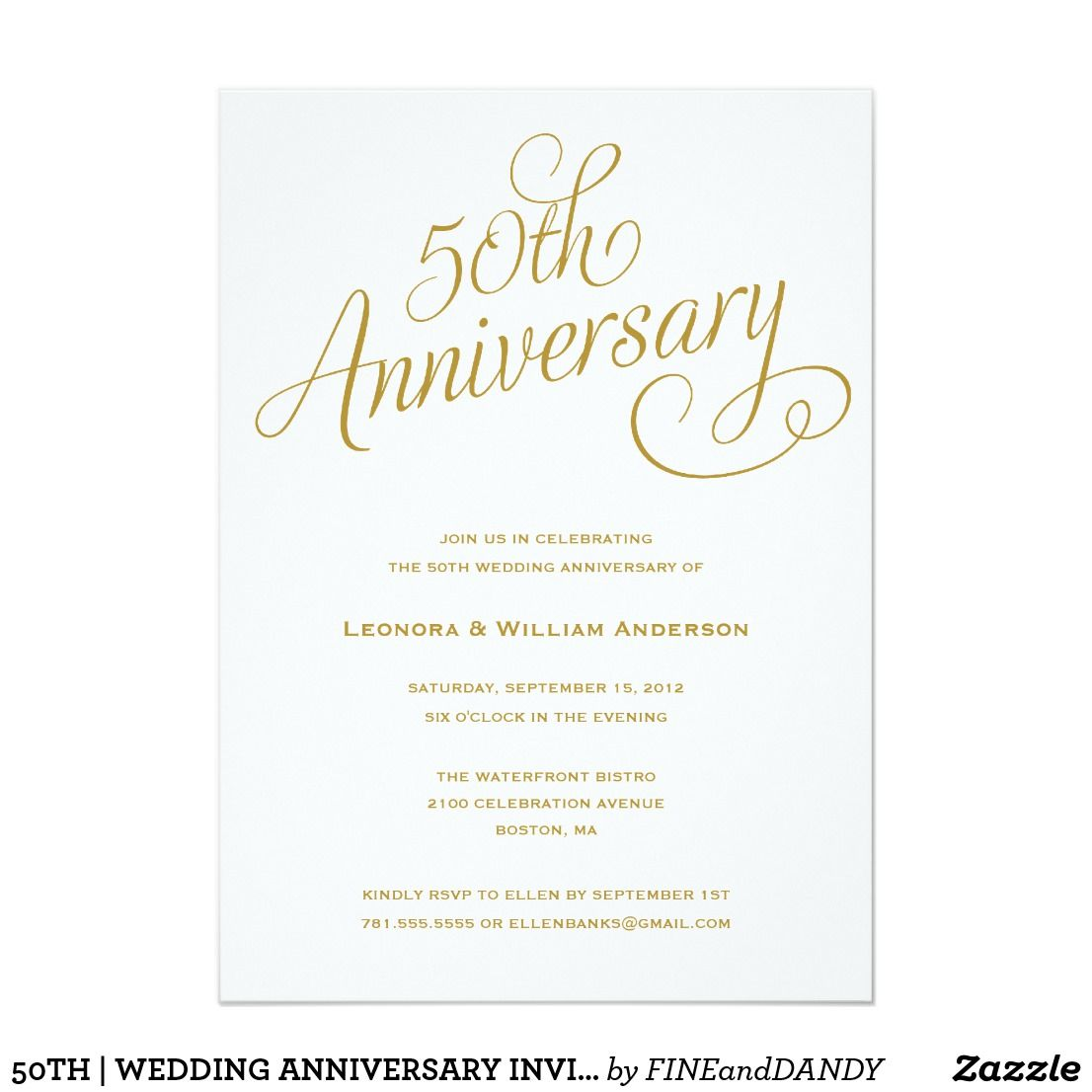 50th Wedding Anniversary Invitations 50th Wedding Anniversary